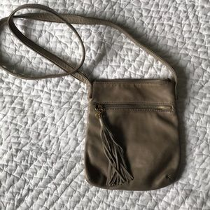 Hobo leather tassel crossbody bag